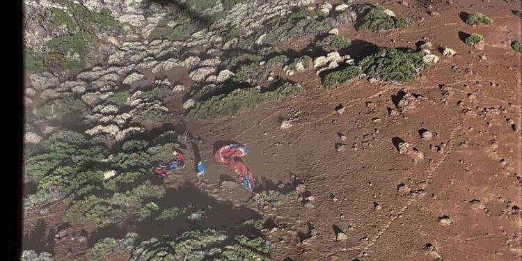 Dos parapentistas pierden la vida en Izaña